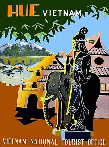 Huế Viet-nam Vietnam Vintage Asian Travel Advertisement Art Poster Print