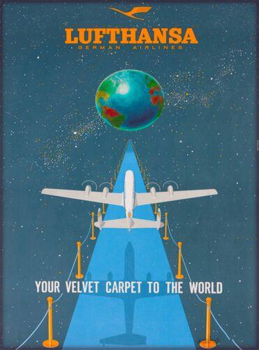 Lufthansa German Airlines Germany Vintage Travel Advertisement Art Poster Print