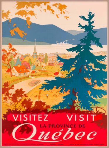 Visitez La Provence de Quebec Canada Canadian Travel Advertisement Poster