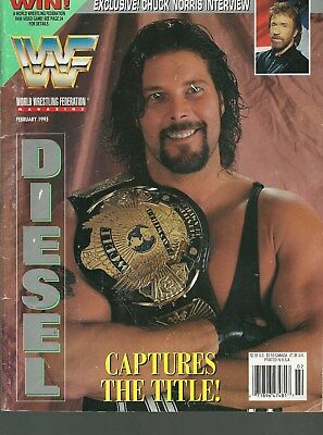WWF MAGAZINE FEBRUARY 1995 DIESEL CAPTURES THE TITLE