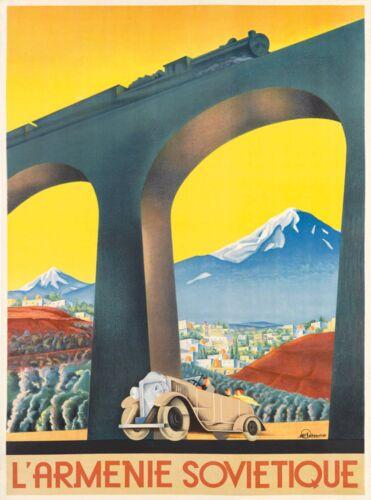 L Armenie Armenia Armenian Vintage Europe European Advertisement Travel Poster