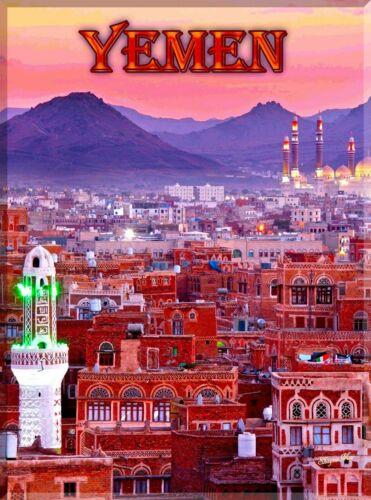 Yemen Travel Advertisement Art Poster Print. Middle East Saudi Arabia