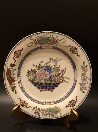 Antique Famille Rose Medallion Plate,Beautifully Hand Painted - $29.00