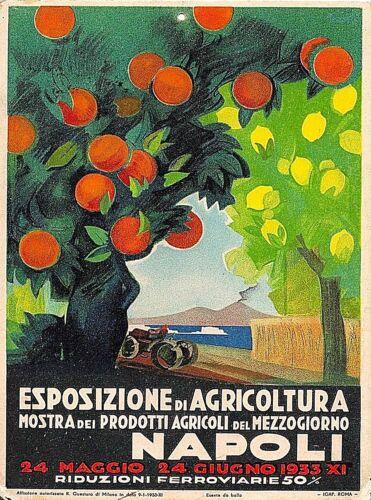 1933 Napoli Naples Italy Vintage European Travel Art Advertisement Poster Print