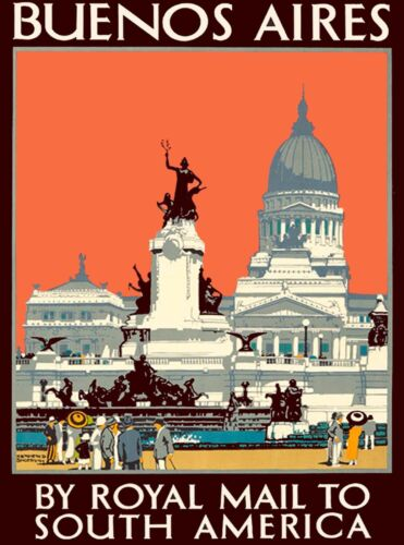 Buenos Aires Royal Mail Argentina South America Travel Advertisement Art Poster