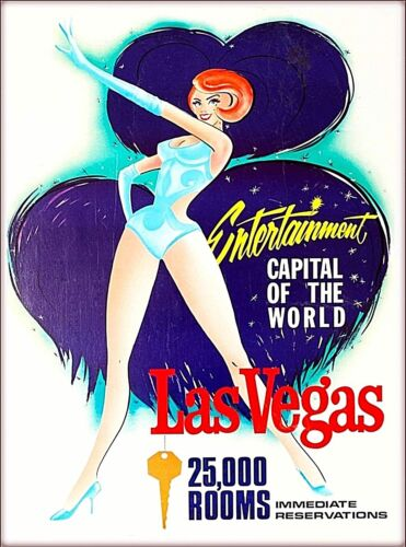 Entertainment Capital Las Vegas Nevada United States Vintage Travel Art Poster