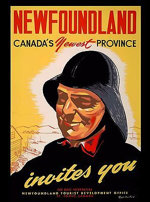 Newfoundland Canada's New Provence Canada Canadian Travel Advertisement Poster