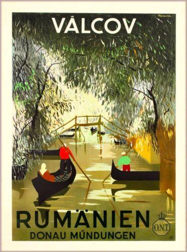 Vâlcov Romania Rumänien Europe Vintage Travel Poster Advertisement Art Print