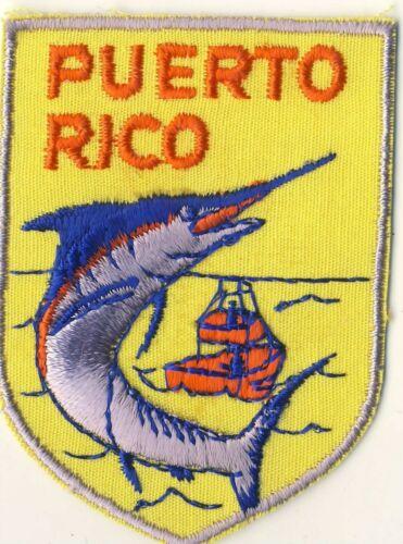"Puerto Rico PR Sailfish Marlin Souvenir Tourist 2.75"" Patch"