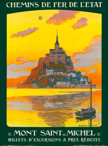 Mont Saint Michel France French Europe Vintage Travel Advertisement Art Poster 2