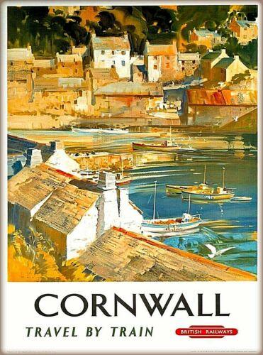 Cornwall Great Britain British Railways England Vintage Travel Art Poster Print