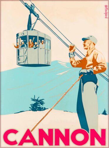 Cannon New Hampshire Ski United States Vintage Travel Advertisement Art Poster