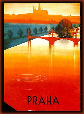 Prague Czech Republic Europe European Praha Advertisement Travel Art Poster 5