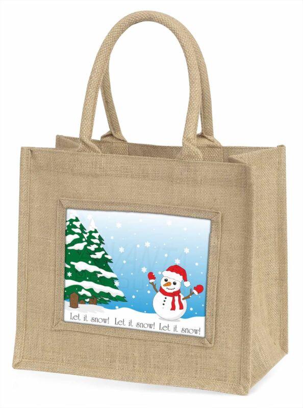 Snow+Man+Large+Natural+Jute+Shopping+Bag+Christmas+Gift+Idea%2C+Snow-1BLN