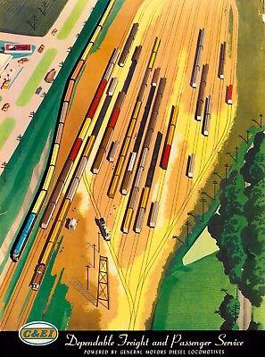 Chicago & East Illinois Railroad United States Vintage Travel Art Poster Print