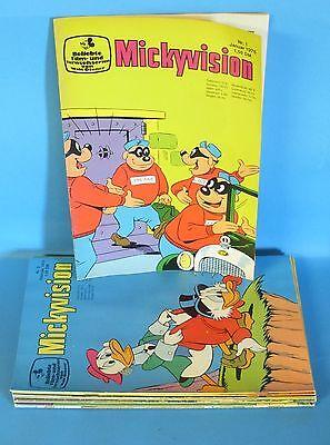 Mickyvision Jg. 1975 Nr. 1 - 12 sehr guter Zustand (1) komplett 2.Serie ab 1967