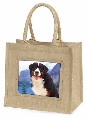 Bernese Mountain Dog Large Natural Jute Shopping Bag Christmas Gift , AD-BER6BLN