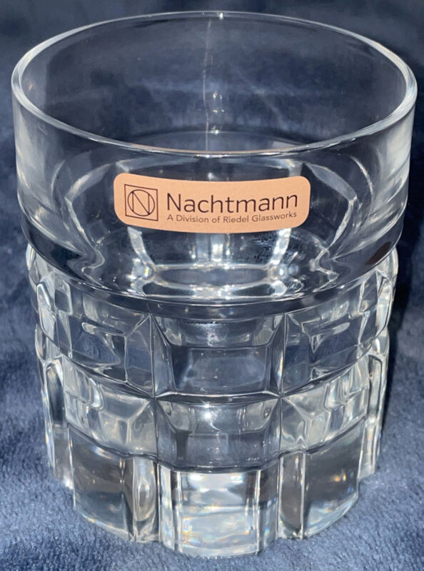 "Nachtmann Germany Crystal Double Old Fashioned Blown Glass 4""x3.25"" Box Cut NEW"