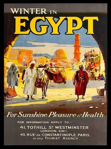 Winter in Egypt Vintage Travel Wall Decor Advertisement Art Poster Print
