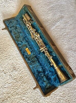 Antique Metal ClarinetWith Case, Artiste, Houston Music Co