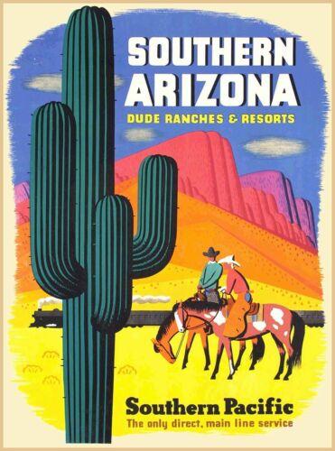 Southern Arizona Southern Pacific Vintage U.S. Travel Advertisement Poster Print