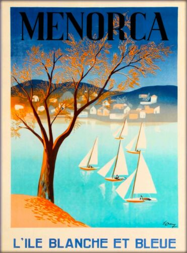 Menorca Minorca Island Spain Vintage Travel Advertisement Art Poster Print