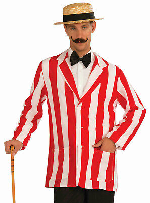 Roarin' 20's Old Time Adult Red and White Striped Costume Jacket Size XL - Old Time Costumes