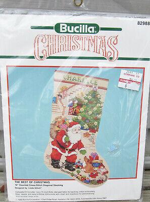 Bucilla Cross Stitch Stocking Kit Best of Christmas Santa Toys Linda Gillum