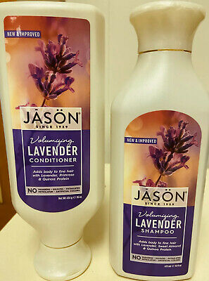 Jason Volumizing Lavender Shampoo & Conditioner 16oz Each Jason Organic Lavender Shampoo