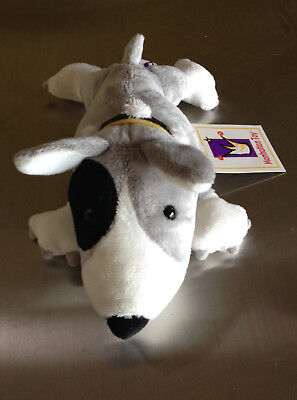Toy Bull Terrier - Bull Terrier Plush Animal - Dawgs 'Bullit', by Manhattan Toy Company 2003