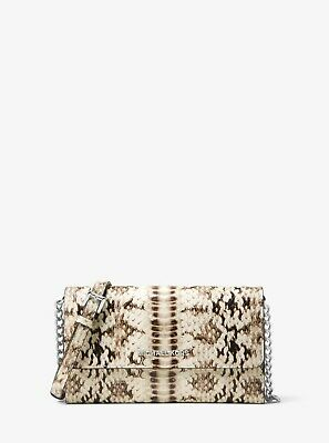 NEW Michael Kors Animal Print Natural Large Phone CrossBody Embossed Leather (Michael Kors Animal Print Bag)