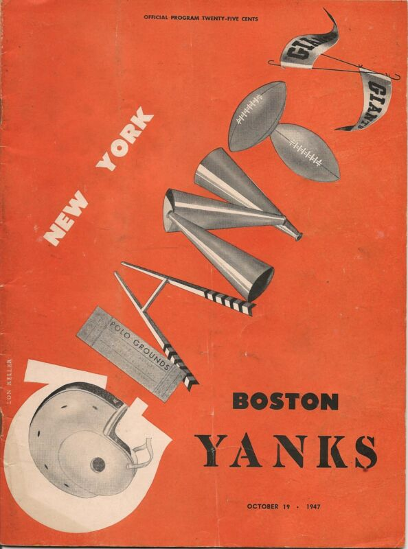 1947 New York Giants-Yanks Program Yanks Blank Giants Spoil Opener EX!!