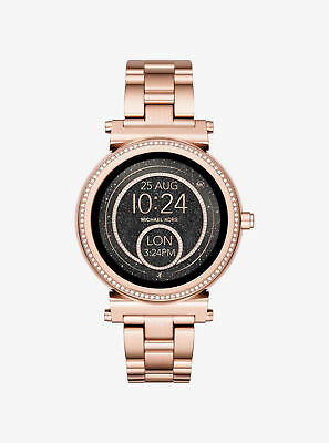 Display Michael Kors Access Unisex Sofie Rose Gold Plated Smart Watch MKT5022