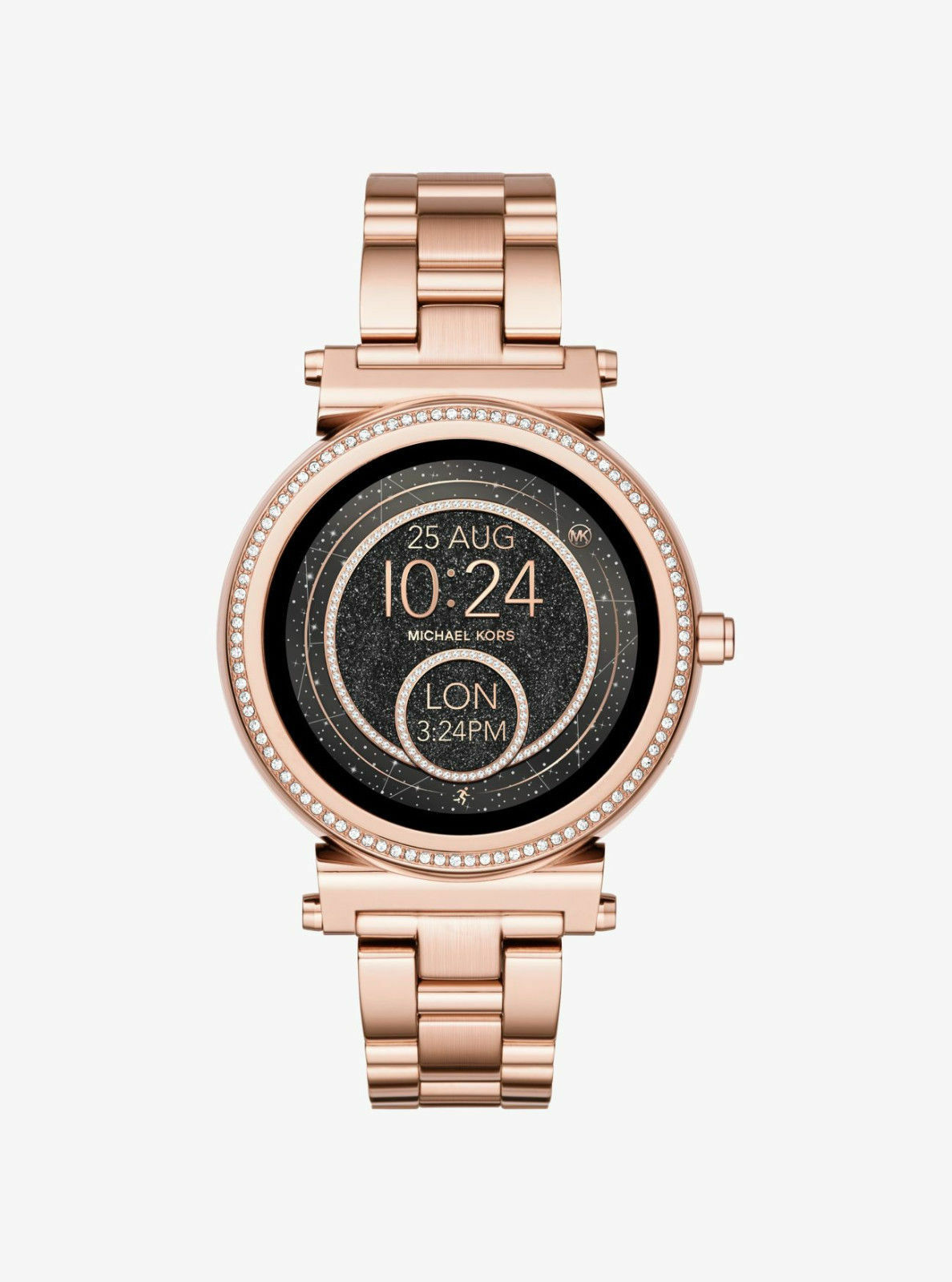 1abcea2def4d Display Michael Kors Access Unisex Sofie Rose Gold Plated Smart Watch  MKT5022