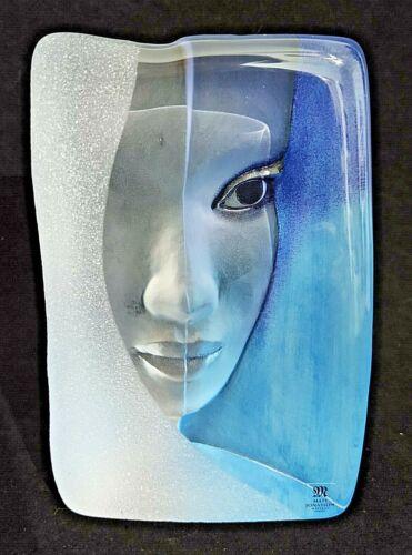 Mats Jonasson Swedish Crystal Glass Blue Woman