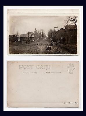 WEST VIRGINIA BUCKHANNON REAL PHOTO STREET VIEW CYKO BACK CIRCA 1910