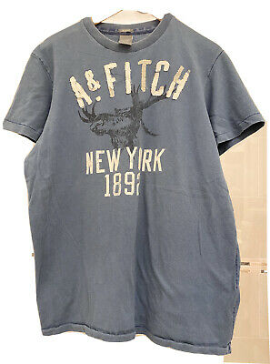 VTG LOT 2 Muscle t-shirts Mens Abercrombie & Fitch size XXL Navy & Pigeon Blue