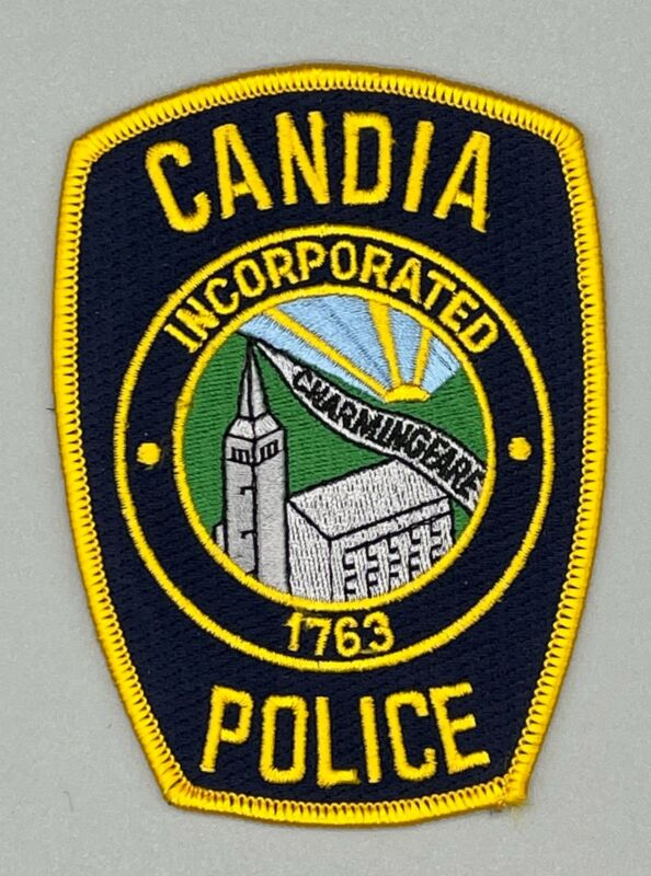 Candia NH New Hampshire Police Patch