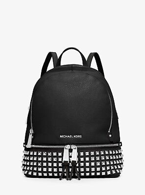MICHAEL MICHAEL KORS Rhea  Studded Leather Backpack FAST Shipping