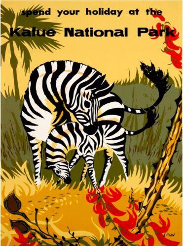 Kafue National Park Zambia Africa Vintage Travel Advertisement Art Poster Print
