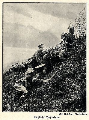 1914 Schlacht bei Mons * Englische Infanterie *  WW1