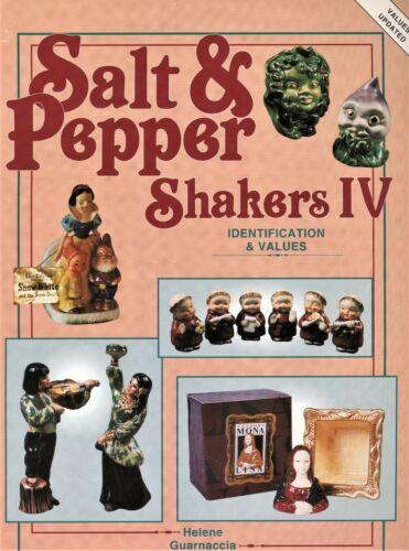 Vintage Salt Pepper Shakers - Ceramic Glass / Scarce Illustrated Book + Values