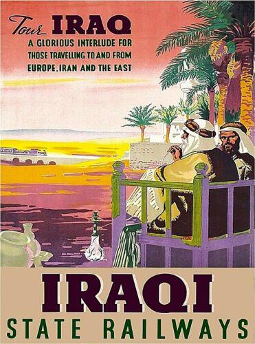 Tour Iraq Iraqi State Railways  Vintage Travel Advertisement Art Poster Print