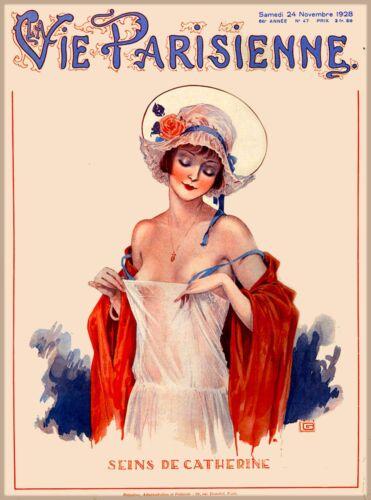 1928 La Vie Parisienne Seins French Nouveau France Travel Advertisement Poster