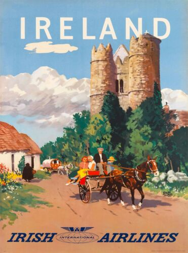 Ireland Irish Great Britain United Kingdom Travel Advertisement Art Poster