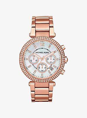 Michael Kors MK5491 Parker Rose Gold-Tone Blush Chronograph Women's Watch Ladies