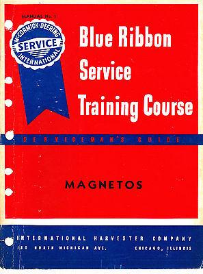 Ih Farmall Magneto Blue Ribbon Service Manual A B C H M International Harvester