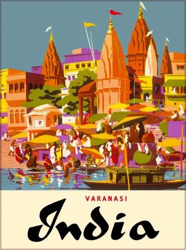 Varanasi India Southeast Asia Asian Vintage Travel Advertisement Poster Print