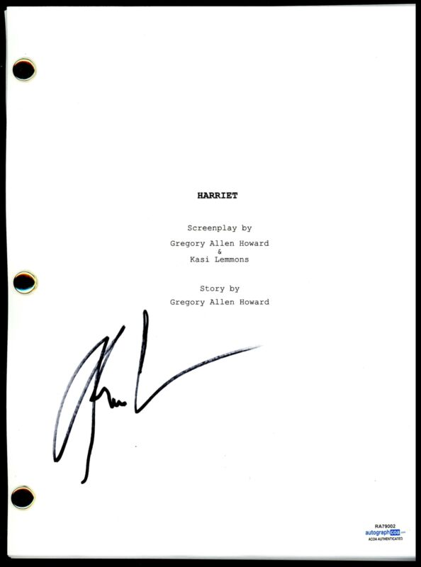 """Kasi Lemmons """"Harriet"""" Director AUTOGRAPH Signed Full Complete Script Screenplay"""