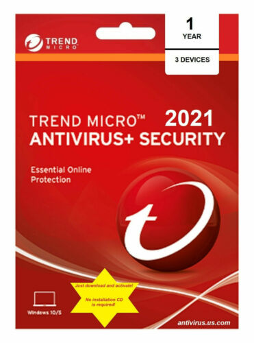 Trend Micro Antivirus Maximum Internet Security 2020/2021 (3 Devices for 1 Year)